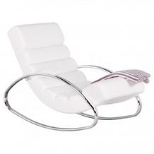 Wohnling Relaxliege Sessel Fernsehsessel Farbe weiß Relaxsessel Design Schaukelstuhl Wippstuhl modern