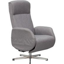 Wohnling Relaxsessel mit Massagefunktion Hellgrau Stoff, Ruhesessel Elektrisch Verstellbar, Sessel mit Liegefunktion, Bequemer Entspannungssessel