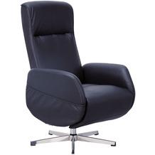 Wohnling Relaxsessel mit Massagefunktion Kunstleder Schwarz, Ruhesessel Elektrisch Verstellbar, Sessel mit Liegefunktion, Bequemer Entspannungssessel