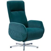 Wohnling Relaxsessel mit Massagefunktion Samt Grün, Ruhesessel Elektrisch Verstellbar, Sessel mit Liegefunktion, Bequemer Entspannungssessel