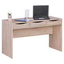 Wohnling Schreibtisch SAMO 120 cm Design Bürotisch Sonoma Eiche modern Jugendschreibtisch 3 Schubladen & Stauraum platzsparend