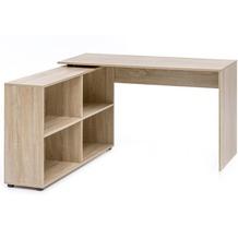 Wohnling Schreibtischkombination WL5.308 Sonoma 130x75x60 cm Holz Schreibtisch