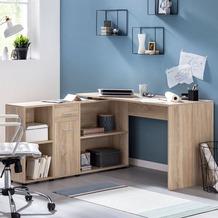 Wohnling Schreibtischkombination WL5.310 Sonoma 130x75x60 cm Holz Schreibtisch