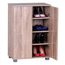Wohnling Schuhschrank 2-Türig 60 x 90 x 35 cm Sonoma 12 Paar Schuhe