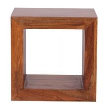 Wohnling Sheesham Standregal Massiv 44x44 cm Cube Massivholz