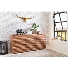 Wohnling Sideboard KADA 160 x 75 x 43 cm Massiv-Holz Akazie Natur Baumkante Anrichte