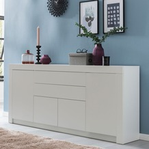 Wohnling Sideboard WL5.875 Weiß Matt 188x84x35 cm Design Highboard