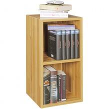 Wohnling Standregal KLARA buche für Bücher 2 Fächer MDF-Holz, Design Aufbewahrungsregal, Modernes Flur-Holzregal, Kleines Regal offen
