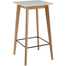 Wohnling Stehtisch 60x110x60 cm Weiß Eckig, Bartisch für 4 Personen, Moderner Tisch für Bar, Design Partytisch Holz, Hochtisch Eiche Skandinavisch