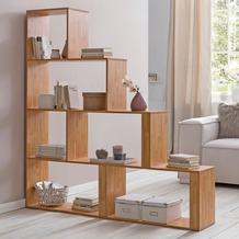 Wohnling Stufenregal Modern WL5.874 Buche 155 x 162,5 x 29 cm Holz Treppenregal