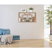 Wohnling Wandregal ALEX buche 85 x 47,5 x 16 cm MDF-Holz Hängeregal modern, Design Wandboard freischwebend