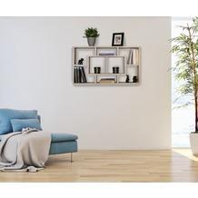 Wohnling Wandregal ALEX sonoma 85 x 47,5 x 16 cm MDF-Holz Hängeregal modern, Design Wandboard freischwebend
