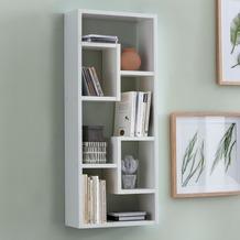 Wohnling Wandregal ROSALIE Weiß 36x90x13,5 cm Holz Design Hängeregal modern, Wandboard freischwebend