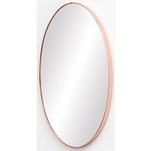 Wohnling Wandspiegel MELI 45x80x4 cm Spiegel mit Rahmen Kupfer Flurspiegel Groß, Hängespiegel Flur zum Aufhängen, Garderobenspiegel Wand Modern, Dekospiegel Wohnzimmer Schlafzimmer kupfer