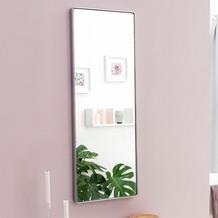 Wohnling Wandspiegel WL5.779 Silber 100x36x4cm Spiegel Modern Rahmen Groß, Hängespiegel Schlafzimmer Rechteckig, Garderobenspiegel Flur zum Aufhängen Eckig, Design Dekospiegel Wand Wohnzimmer  silber