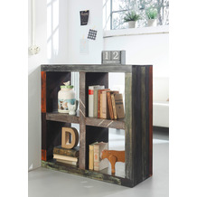 Wolf Möbel Raumteiler mit 4 Fächern - Metallapplikation