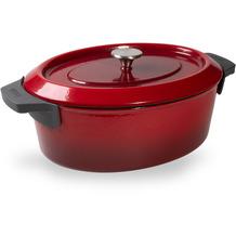 Woll Iron Bräter rechteckig Chili Red 7,5 Liter