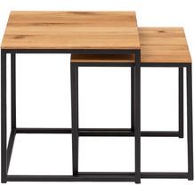 Woodlive Couchtisch Cube 2er-Set 40x40 cm schwarz