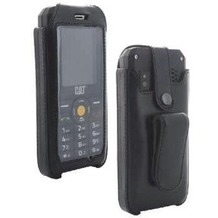 XiRRiX hochwertige passende Tasche Handyhülle für CAT B30 mit rotierbaren Stahlclip für den Gürtel aus echt-Leder Herstellung innerhalb der EU