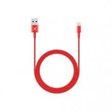 XLayer Kabel Colour Line Lightning Lade/Sync-Kabel 1m Red