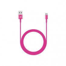 XLayer Kabel Colour Line Micro USB to USB 1m Pink