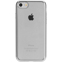 xqisit Flex Case Chromed Edge for iPhone 7 clear/silver colored
