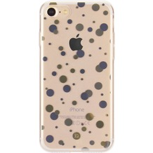 xqisit Shell Dots for iPhone 7 clear/gold col./silver col.