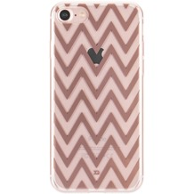 xqisit Shell Zigzag for iPhone 7 clear/rose gold colored