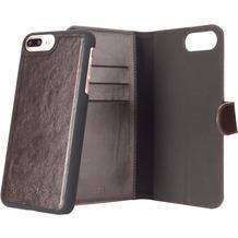 xqisit Wallet Case Eman for iPhone6+/6s+/7+ braun