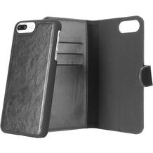 xqisit Wallet Case Eman for iPhone6+/6s+/7+ schwarz