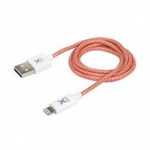 Xtorm USB Lightning Kabel, rot/weiß
