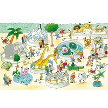XXLwallpaper Fototapete Zoo 150 g Vlies Basic 2,00 m x 1,33 m