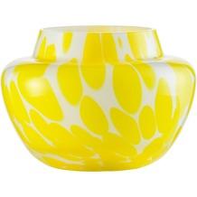 Zwiesel 1872 Splash Vase weiß / lemon 128