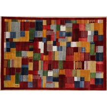 Zaba Gabbeh-Teppich Lorri Nomad rot/multi 70 x 140 cm