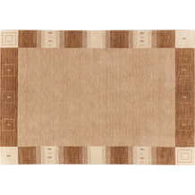 Zaba Loribaft-Teppich Seattle Bordüre beige 70 cm x 140 cm