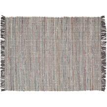 Zaba Handwebteppich Highland grau 60 x 90 cm