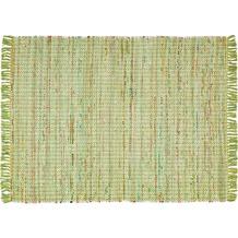 Zaba Handwebteppich Highland grün 60 x 90 cm