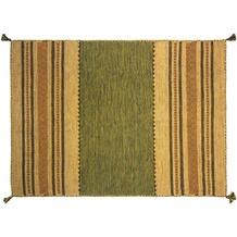 Zaba Handwebteppich Navarro grün 60 x 90 cm