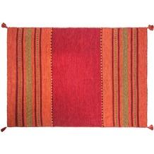 Zaba Handwebteppich Navarro rot 60 x 90 cm