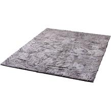 Zaba Fell-Teppich Robin grau-meliert 80 cm rund