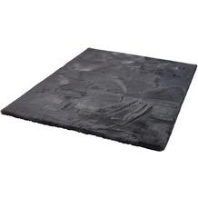 Zaba Fell-Teppich Roger Deluxe stone 80 cm rund