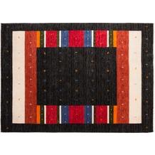 Zaba Gabbeh-Teppich Weavy N-01 anthrazit 70 x 140 cm