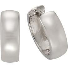 ZEEme Basic Creolen 925/- Sterling Silber 16mm Durchmesser weiß 2723
