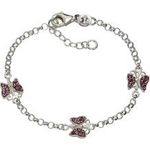 ZEEme For Kids Armband 925/- Sterling Silber Kristall pink weiß 2149