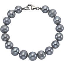 ZEEme Pearls Armband 925/- Sterling Silber Perle grau  4217