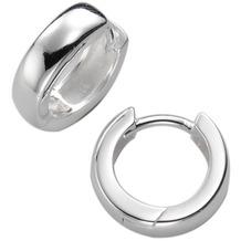 ZEEme Silver Creolen 925/- Sterling Silber glänzend weiß 515