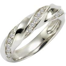 ZEEme Silver Ring 925/- Sterling Silber Zirkonia weiß  4259 16 (50,5)
