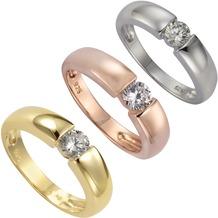 ZEEme Silver Ring 925/- Sterling Silber Zirkonia weiß  2853 52 (16,6)