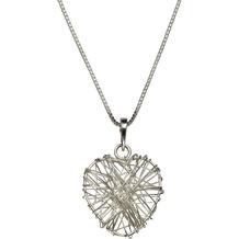 dbb833dea9db ZEEme Silver Collier 925 - Sterling Silber rhodiniert Herz weiß 12971