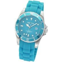ZEEme Watches Uhr türkis Silikonband Datumsanzeige  2641